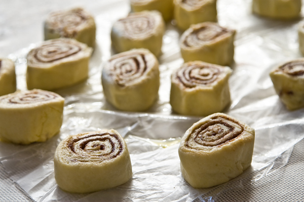 sticky buns closeup
