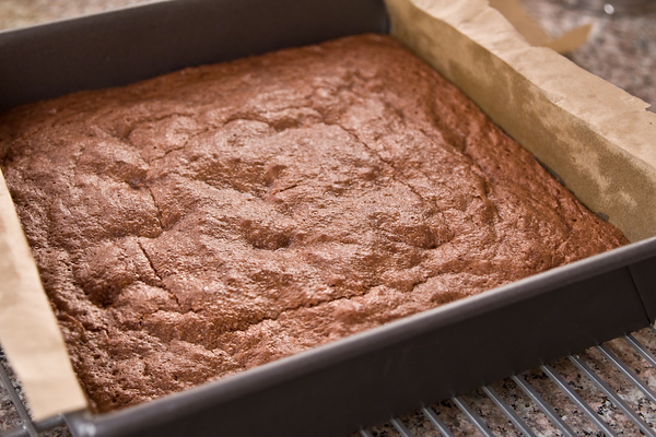 brownies in pan