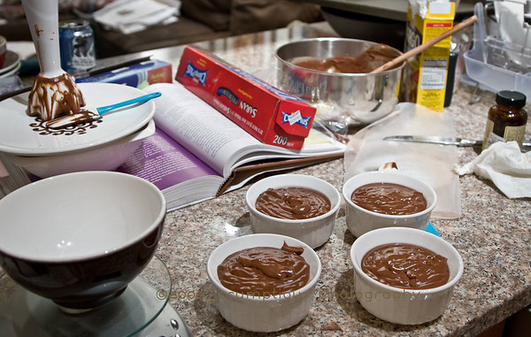 wide angle making of the pudding