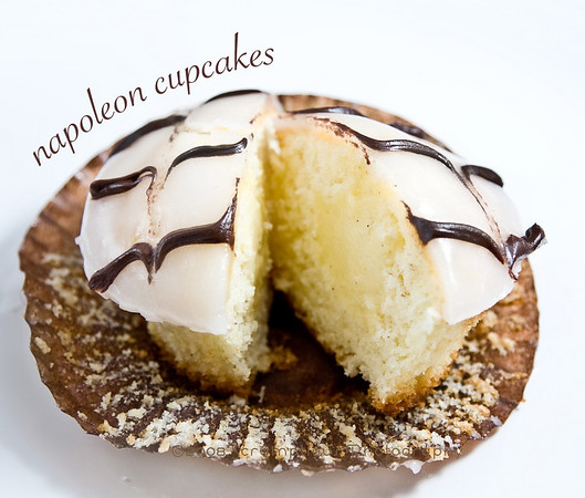 cross section of napoleon cupcake