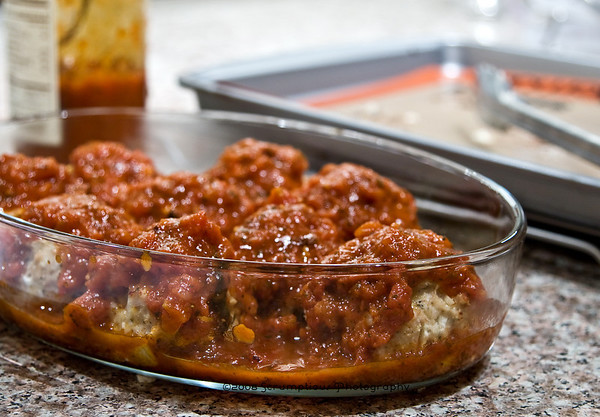 meatballs covered in sauce