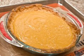 pumpkin filling in pie