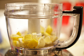 lemons in food processor
