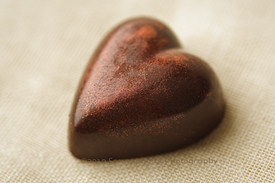 heart shaped chocolate truffle