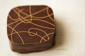 milk chocolate painted chocolate truffle